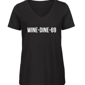 vrouwen t-shirt wine dine 69
